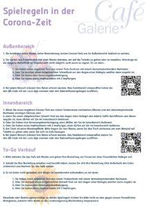 Corona-Info-Speisekarte