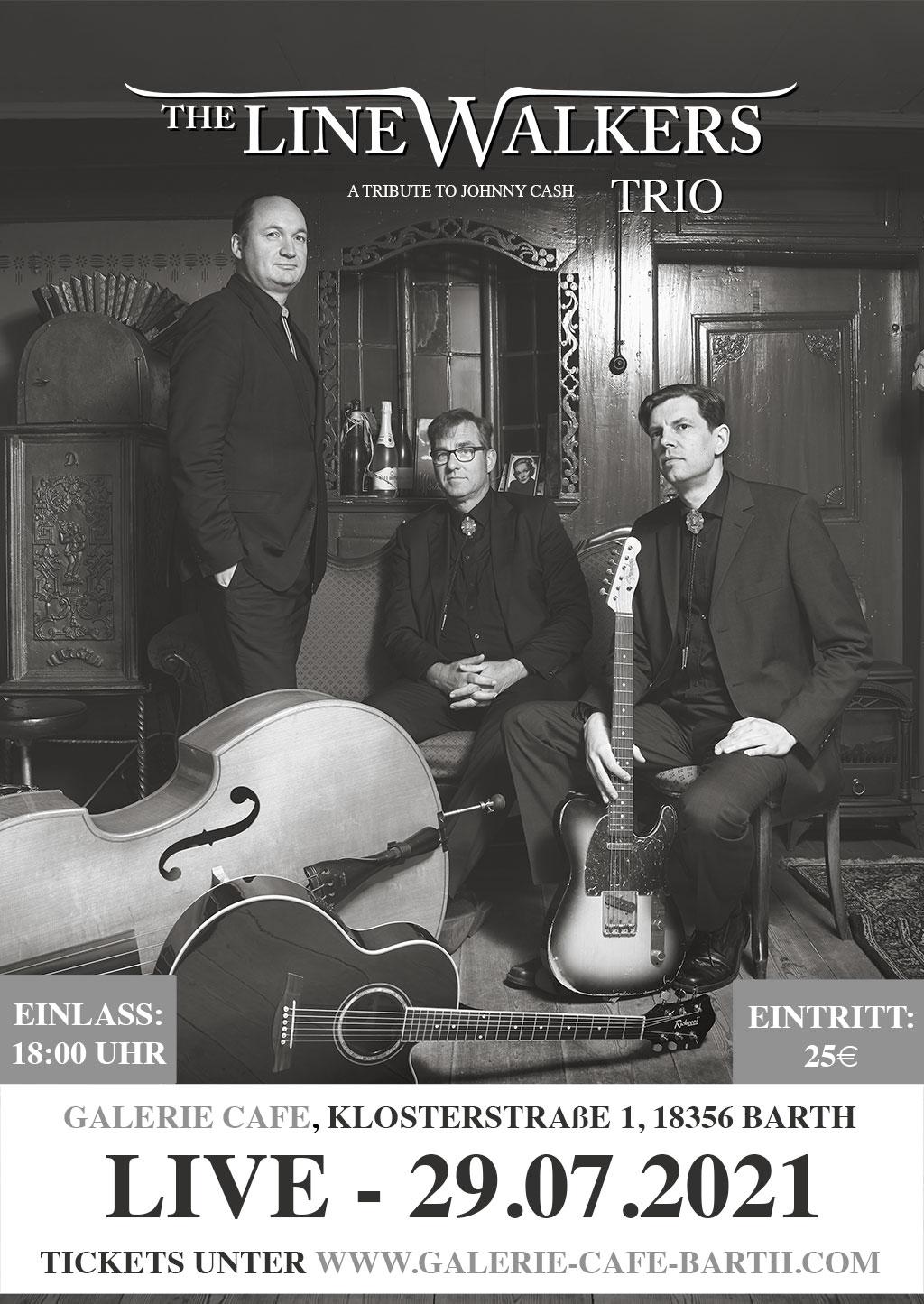 The Linewalkers Trio – A Tribute To Johnny Cash – Live im Galerie Café Barth
